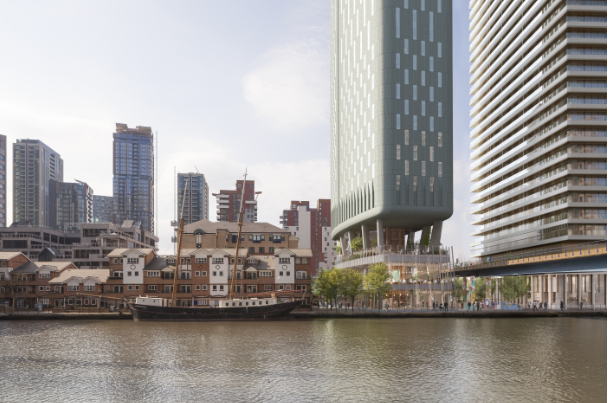 40-storey development overlooking Canary Wharf gets green light